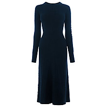 Buy Warehouse Mini Cable Waisted Dress, Navy Online at johnlewis.com