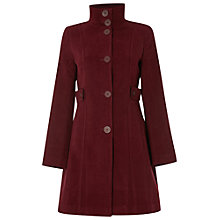 Buy White Stuff Market Place Velvet Coat, Mulberry Online at johnlewis.com