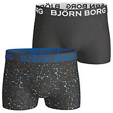 Buy Bjorn Borg Mineral Short Trunks, Pack of 2, Black Online at johnlewis.com