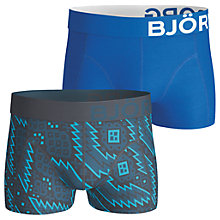 Buy Bjorn Borg Nordic and Plain Short Trunks, Pack of 2, Blue Online at johnlewis.com