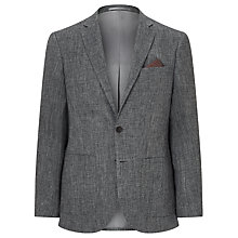 Buy John Lewis Textured Pure Linen Tailored Blazer, Grey Online at johnlewis.com