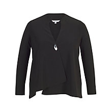 Buy Chesca Asymmetric Jacket, Black Online at johnlewis.com