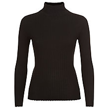 Buy Jaeger Wool Turtleneck Jumper, Black Online at johnlewis.com