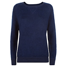 Buy Jaeger Wool Mohair Sweatshirt, Denim Online at johnlewis.com