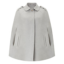 Buy Miss Selfridge Collar Cape Coat, Grey Online at johnlewis.com
