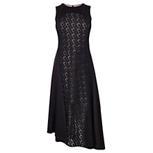 Buy Coast Shorter Length Malik Embroidered Dress, Black Online at johnlewis.com