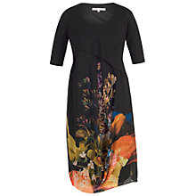 Buy Chesca Tulip Chiffon Dress, Black/Orange Online at johnlewis.com