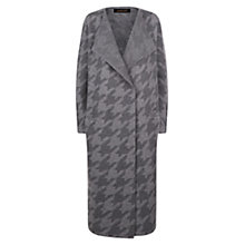 Buy Jaeger Wool Houndstooth Coat, Charcoal Online at johnlewis.com