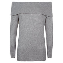 Buy Jaeger Cashmere Off Shoulder Jumper, Grey Melange Online at johnlewis.com