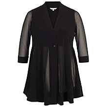 Buy Chesca Mesh And Jersey Panel Jacket, Black Online at johnlewis.com
