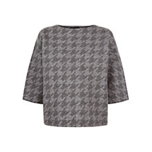 Buy Jaeger Houndstooth Jumper, Charcoal Online at johnlewis.com