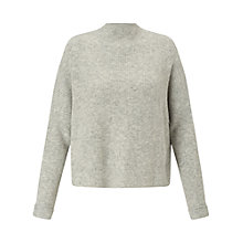 Buy Miss Selfridge Funnel Neck Jumper, Grey Online at johnlewis.com