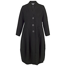 Buy Chesca Notch Collar Basket Weave Coat, Black Online at johnlewis.com