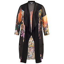 Buy Chesca Tulip Coat, Black/Orange Online at johnlewis.com
