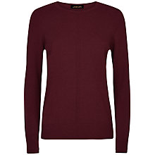 Buy Jaeger Cashmere Crew Neck Jumper, Wine Online at johnlewis.com