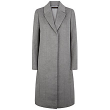Buy Jaeger Wool A-Line Coat, Grey Melange Online at johnlewis.com