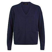 Buy Jaeger V-Neck Cashmere Pocket Jumper Online at johnlewis.com