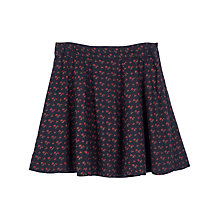 Buy Fat Face Audrey Wheatsheaf Skirt, Navy Online at johnlewis.com