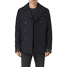 Buy AllSaints Felix Peacoat, Ink Navy Online at johnlewis.com