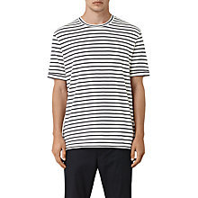 Buy AllSaints Hydra Crew T-Shirt, Powder White/Black Online at johnlewis.com