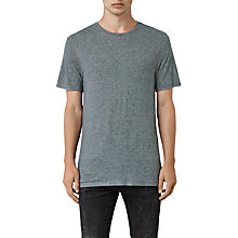 Buy AllSaints Dorado Crew T-shirt, Workers Blue Online at johnlewis.com