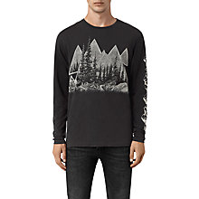 Buy AllSaints Alpina T-shirt, Black Online at johnlewis.com