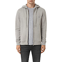 Buy AllSaints Wolfe Hoodie, Smoke Marl Online at johnlewis.com