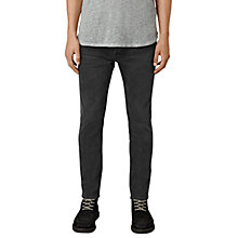 Buy AllSaints Keppoch Cigarette Skinny Fit Jeans, Black Online at johnlewis.com