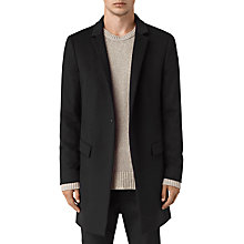Buy AllSaints Fido Wool Silk Coat, Black Online at johnlewis.com