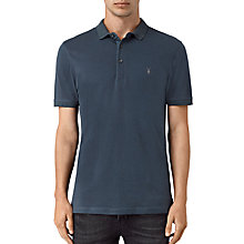 Buy AllSaints Alter Slim Fit Polo Shirt, Workers Blue Online at johnlewis.com