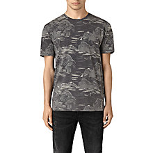 Buy AllSaints Canada Print T-Shirt, Vintage Black Online at johnlewis.com