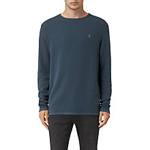 Buy AllSaints Clash Crew Long Sleeve Jersey Top Online at johnlewis.com