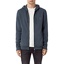 Buy AllSaints Raven Hoodie, Workers Blue Online at johnlewis.com