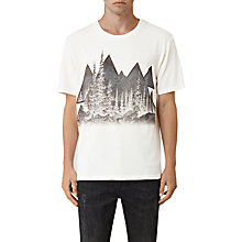 Buy AllSaints Alpina Short Sleeve T-Shirt, Chalk/Black Online at johnlewis.com