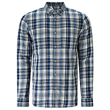 Buy Denham Edged Check Shirt TPL, Indigo Online at johnlewis.com