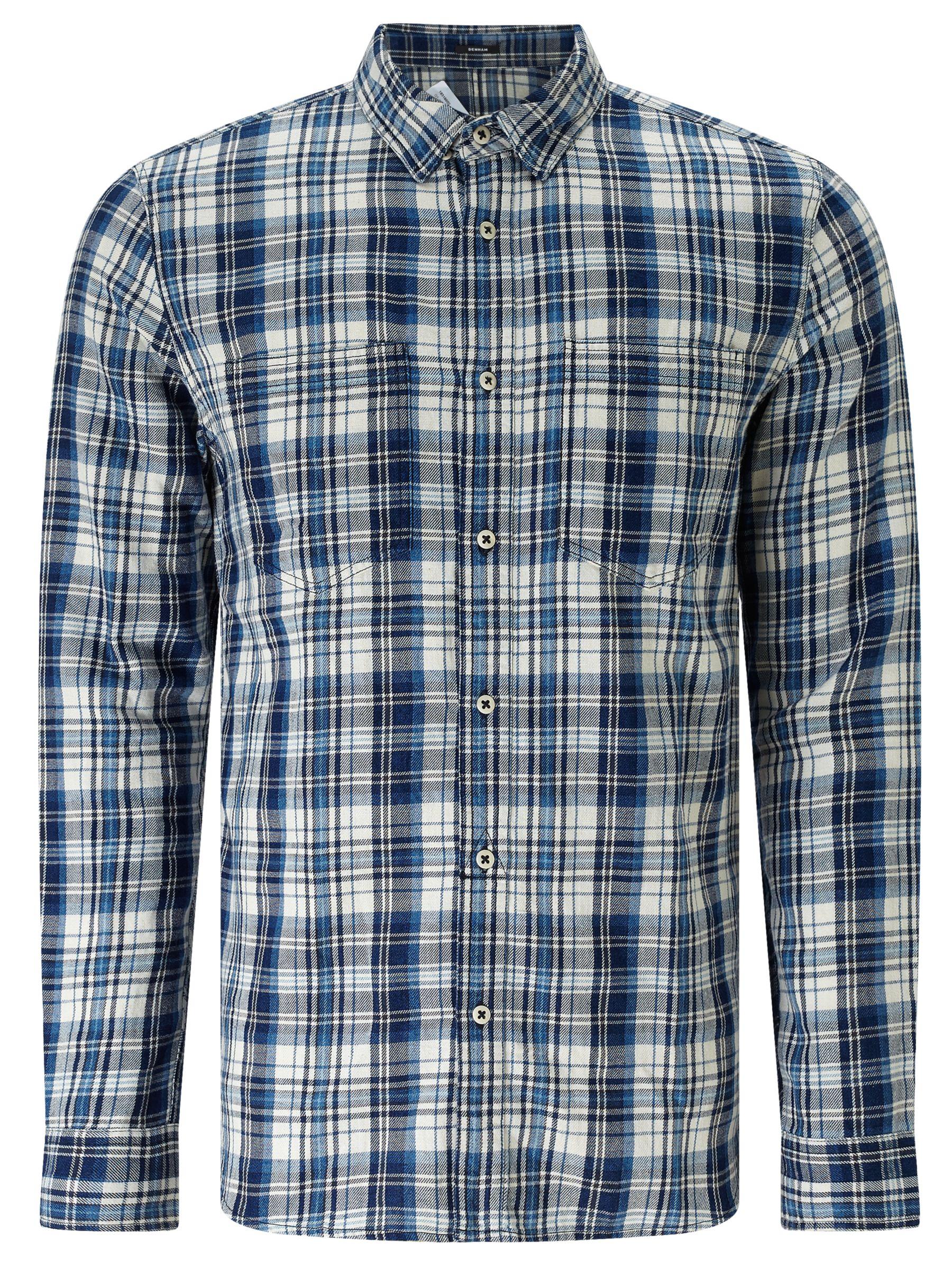 Denham Denham Edged Check Shirt TPL, Indigo