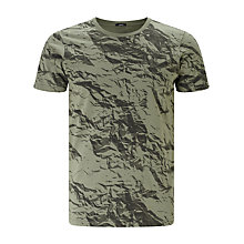 Buy Denham Paper Effect Camouflage Print T-Shirt Online at johnlewis.com