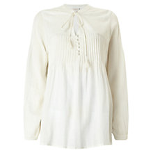 Buy East Embroidered Yoke Blouse, Ivory Online at johnlewis.com