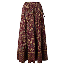 Buy East Anokhi Arden Print Skirt, Raisin Online at johnlewis.com