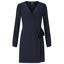 Buy Miss Selfridge Wrap Belted Dress, Navy Online at johnlewis.com
