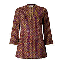 Buy East Anokhi Arden Print Kurta Top, Raisin Online at johnlewis.com