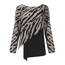Buy Finery Valetta Graphic Cat Contrast Top, Multi Online at johnlewis.com