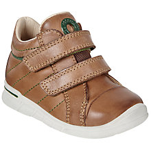 Buy ECCO Children's First Double Rip-Tape Leather Shoes, Tan Online at johnlewis.com