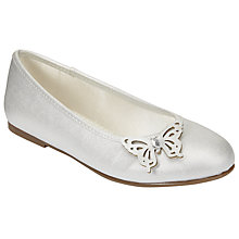 Buy John Lewis Children's Butterfly Ballet Pumps, Ivory Online at johnlewis.com