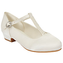 Buy John Lewis Children's Pearl T-Bar Shoes, Ivory Online at johnlewis.com