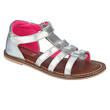 Buy John Lewis Children's Gladiator Sandals, Silver Online at johnlewis.com