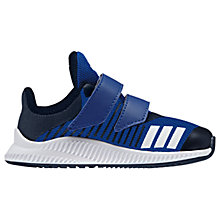 Buy Adidas Infants' FortaRun Double Rip-Tape Trainers, Collegiate Royal Blue Online at johnlewis.com