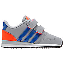 Buy Adidas Infants' VS Jog CMF Rip-Tape Sports Shoes, Grey/Blue Online at johnlewis.com