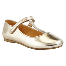 Buy John Lewis Heirloom Collection Children's Eva T-Bar Leather Shoes, Rose Gold Online at johnlewis.com