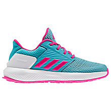 Buy Adidas Children's Rapida Run K Lace Up Trainers, Blue/Pink Online at johnlewis.com